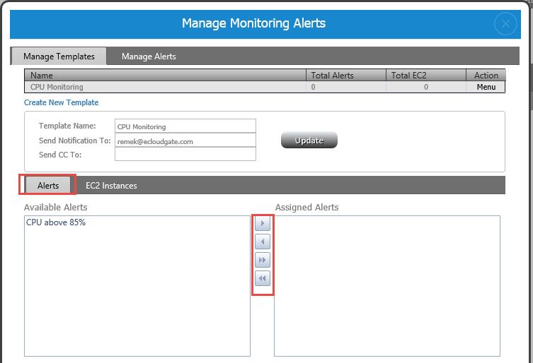 Monitoring Alerts Configuration