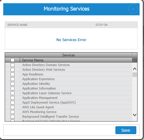 AWS EC2 Monitoring Windows Services