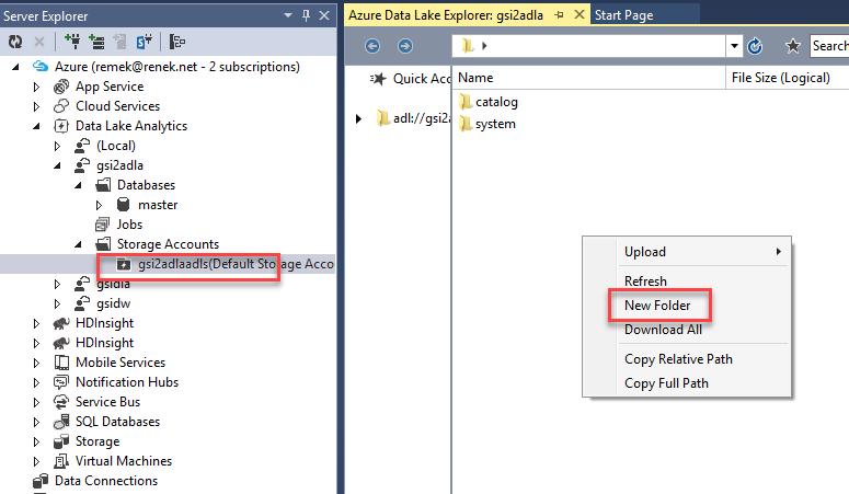 Azure: Azure Data Lake Analytics - Process Web Logs