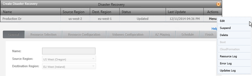 Disaster Recovery List